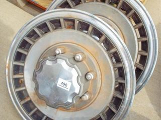 2  Ford hubcaps