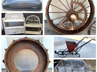 Antique Steel Wheels, Generator, Luggage Carrier, Yard Cart, Utility Wagon, and More!