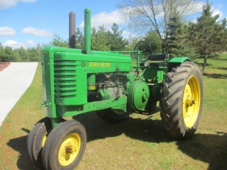 Personal Collection of Pristine John Deere 2-Cylinder Tractors
