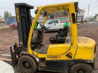 2) Loaders, Hyster 60 Forklift, 2000 GMC 3500 Flatbed