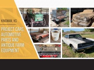 Kingman, KS - Project Cars, Automotive Parts and Antique Farm Equipment