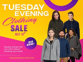 TUESDAY EVENING CLOTHING SALE MAY 18TH