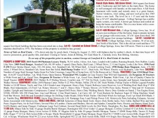 Jim Wegman Estate Auction