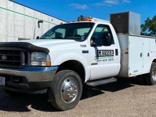 Surplus Concrete Equipment: 2003 Ford F-550 Service Truck, John Deere Gator, Pumps, Saws, Rider, Laser Levels