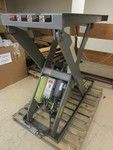 ABI 636 HYDRAULIC LIFT TABLE, DRILL PRESS, 36V BATTERY CHARGERS, CARTS, WORK BENCHES, TOOLS