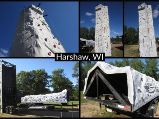 Drop-A-Rock Self-Contained Rock Climbing Wall Units