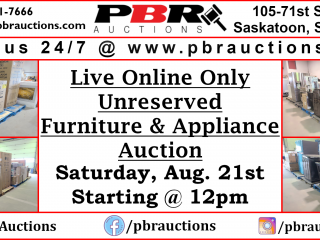 Unreserved Furniture & Appliance Auction
