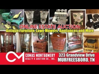 Antique Furniture - Lawn Mowers - Appliances and More! Online Auction ends August 1st