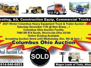 2021 Winter Columbus Heavy Equipment Truck & Trailer Auction