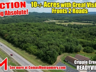 10+/- Acres with Great Visibility - Fronts on 2 Roads - AUCTION Sept. 23rd
