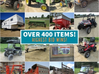 Brand New Sheds, Farm Machinery, New Tires and More - Downing, WI