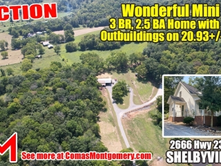 Wonderful Mini Farm - Needs Finishing Touches - 3 Bedroom Home, Barn, Outbuildings on 20.93+/- Acres - AUCTION Oct. 24th