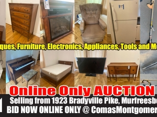 Antique Furniture, Electronics, Tools - Online Personal Property Auction ends Sept. 21st