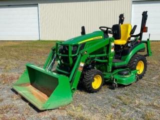 John Deere 1026R Garden Tractor & Attachments
