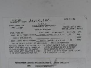 2012 Eagle By Jayco 35' 5th Wheel Camper