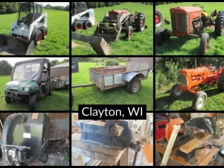 Tractor, Skid Steer, Shop Tools and Household Items