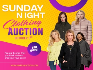 SUNDAY OCTOBER 3D CLOTHING AUCTION