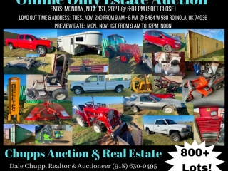 Online Only Estate Auction - 11/1