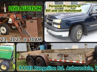 Live Auction - Personal Property of Bill and Jan Hafenbredl